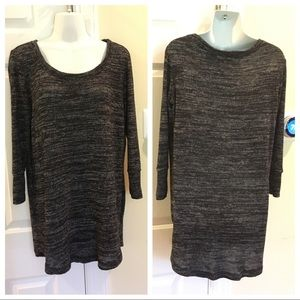 Maternity: Marled Grey Sweater 3/4 Sleeves